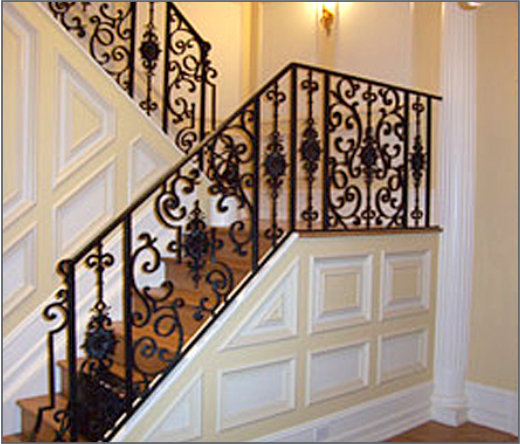 Custom Manufacturer Of Architectural Chicago Staircase Renovation Replacing Iron Spindles